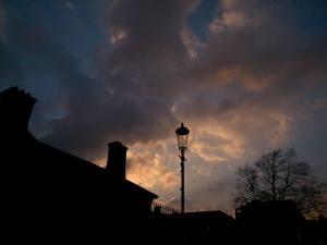 lamp post night